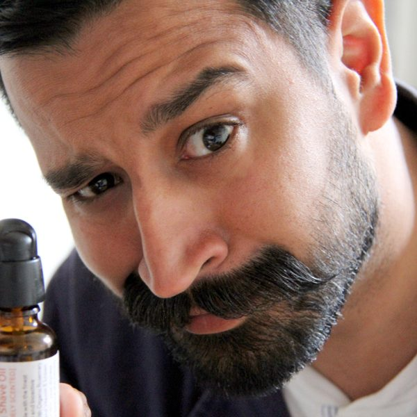 Handsome beard with natural beard oil