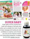 Super baby oil, natural and organic