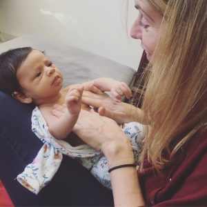 Bespoke one to one baby massage workshops, East London