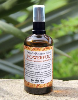 Powerful body oil to boost mood