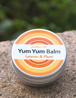 Lemon vegan lip balm
