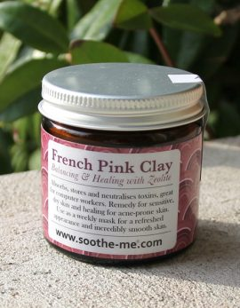 French Pink Clay for sensitive skin
