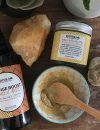 yellow and kaolin clay mask