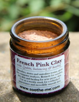 French pink clay with zeolite