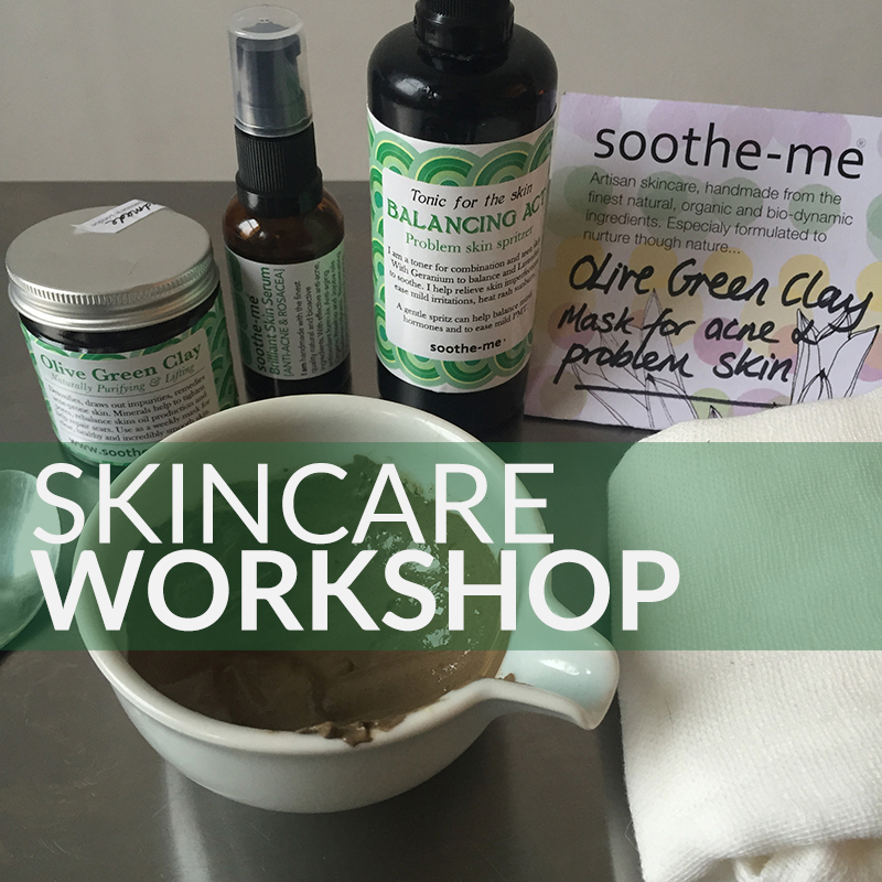 Skincare workshop with soothe-me