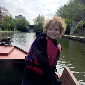 family narrow boating hackney