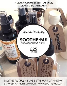 Mothers day gift - skincare workshop