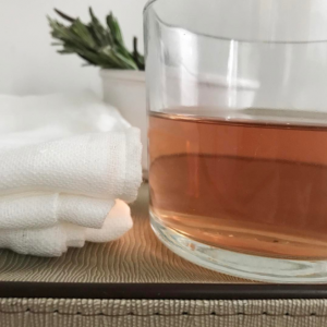 Fresh Rosemary tea for skin and hair
