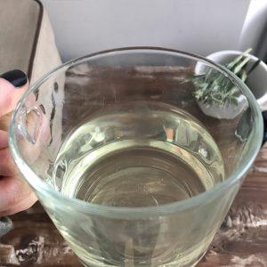 Fresh rosemary tea - light