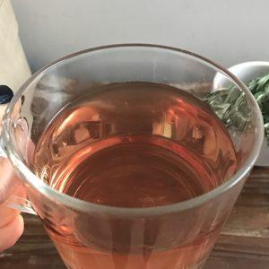 Fresh herbal rosemary tea - strong