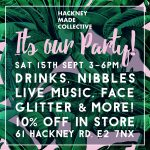 Sat 15th Sept PARTY 61 Hackney road