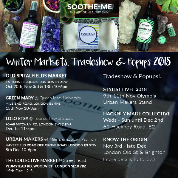 Soothe-me skincare winter trading dates 2018